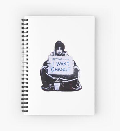 Banksy: Change Spiral Notebook