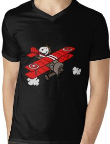 red baron Mens V-Neck T-Shirt