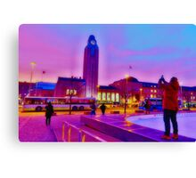 Shooting the Station Sky Canvas Print