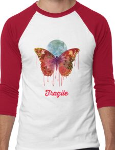 Fragile Men's Baseball ¾ T-Shirt