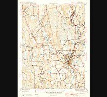 USGS TOPO Map Connecticut CT Putnam 461283 1945 31680 Unisex T-Shirt