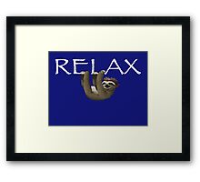 Relax Sloth Framed Print