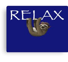 Relax Sloth Canvas Print