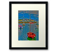 Harbour HDR Framed Print