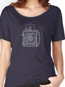 Vintage Photography - Graflex Blueprint Women's Relaxed Fit T-Shirt