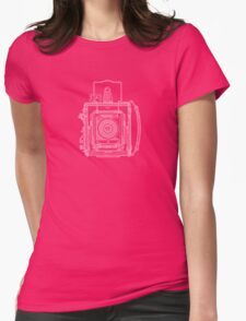 Vintage Photography - Graflex Blueprint Womens Fitted T-Shirt
