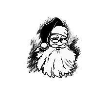 Vintage Santa Claus illustration Photographic Print