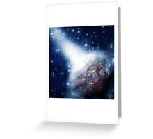 Space background with a planet Greeting Card