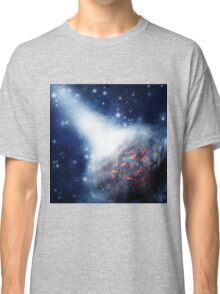 Space background with a planet Classic T-Shirt