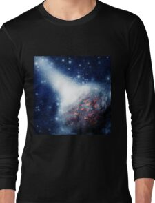 Space background with a planet Long Sleeve T-Shirt