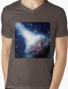 Space background with a planet Mens V-Neck T-Shirt