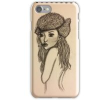 Russian Doll Charcoal Sketch iPhone Case/Skin