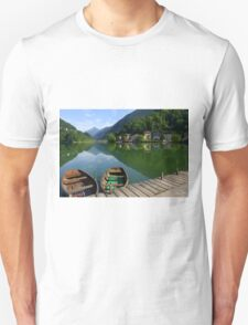 Old boats on the lake Unisex T-Shirt
