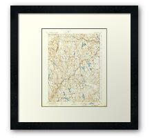 USGS TOPO Map Connecticut CT Gilead 331030 1892 62500 Framed Print