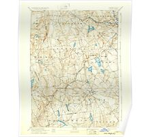 USGS TOPO Map Connecticut CT Gilead 331030 1892 62500 Poster