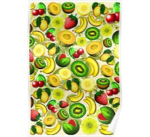 Summer Fruits Juicy Pattern  Poster