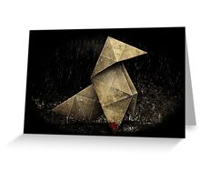 Heavy Rain Origami Figure Greeting Card