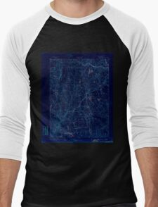 USGS TOPO Map Connecticut CT Gilead 331026 1892 62500 Inverted Men's Baseball ¾ T-Shirt