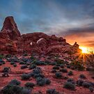 Torrent Arch Sunset by J. Day