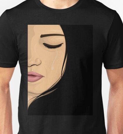 Sad Woman Crying Unisex T-Shirt