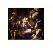 The Martyrdom of Saint Matthew by Caravaggio (1600) Art Print