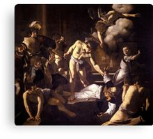 The Martyrdom of Saint Matthew by Caravaggio (1600) Canvas Print