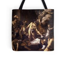 The Martyrdom of Saint Matthew by Caravaggio (1600) Tote Bag