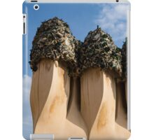 Whimsical Chimneys - Antoni Gaudi's Bottle Glass Trio at Casa Mila iPad Case/Skin