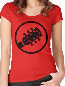 gibson  stylized headstock black Women's Fitted Scoop T-Shirt
