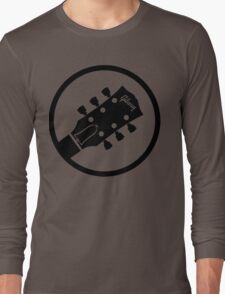 gibson  stylized headstock black Long Sleeve T-Shirt