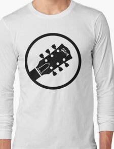 gibson  stylized headstock black Long Sleeve T-Shirt