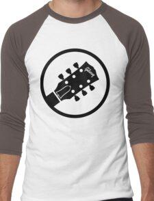 gibson  stylized headstock black Men's Baseball ¾ T-Shirt