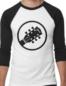 gibson  stylized headstock black Men's Baseball ¾ T-Shirt