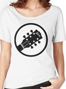 gibson  stylized headstock black Women's Relaxed Fit T-Shirt