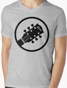 gibson  stylized headstock black Mens V-Neck T-Shirt