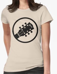 gibson  stylized headstock black Womens Fitted T-Shirt