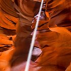 Upper Antelope Canyon Sunbeam by J. Day