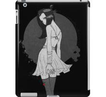 Anime Girl Black-White iPad Case/Skin