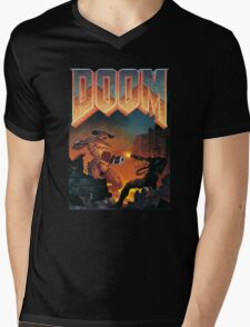 DOOM T-Shirt Mens V-Neck T-Shirt