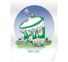 Rugby Ireland 3 cheers !, tony fernandes Poster