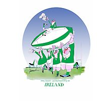 Rugby Ireland 3 cheers !, tony fernandes Photographic Print
