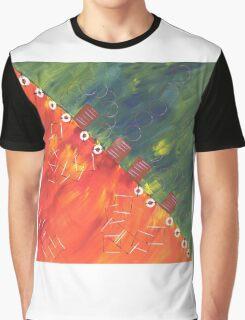Orange Rot grün Graphic T-Shirt