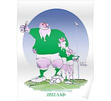 Rugby Ireland mates, tony fernandes Poster