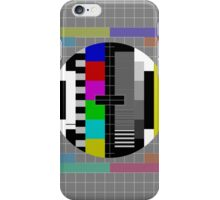 Vintage Television Test Pattern iPhone Case/Skin
