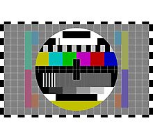 Vintage Television Test Pattern Photographic Print