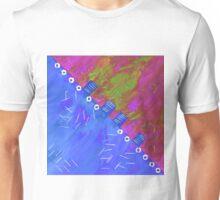 Blau violett Unisex T-Shirt