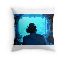 Into the Deep Blue Throw Pillow