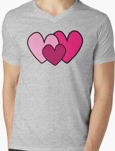 Hearts Mens V-Neck T-Shirt