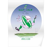 Rugby Ireland keep calm, tony fernandes Poster