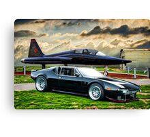 Jet Black Pantera II Canvas Print